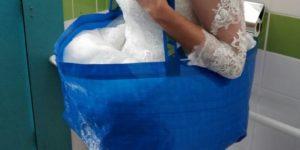 wedding bathroom helper