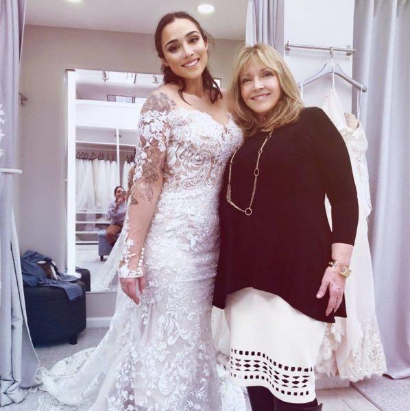 lady in a wedding dress