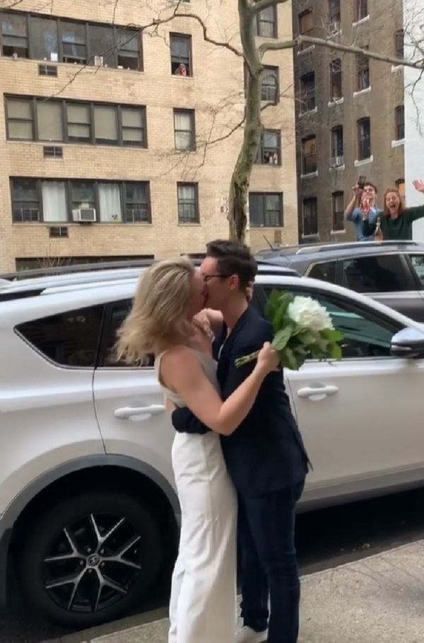 unique street wedding
